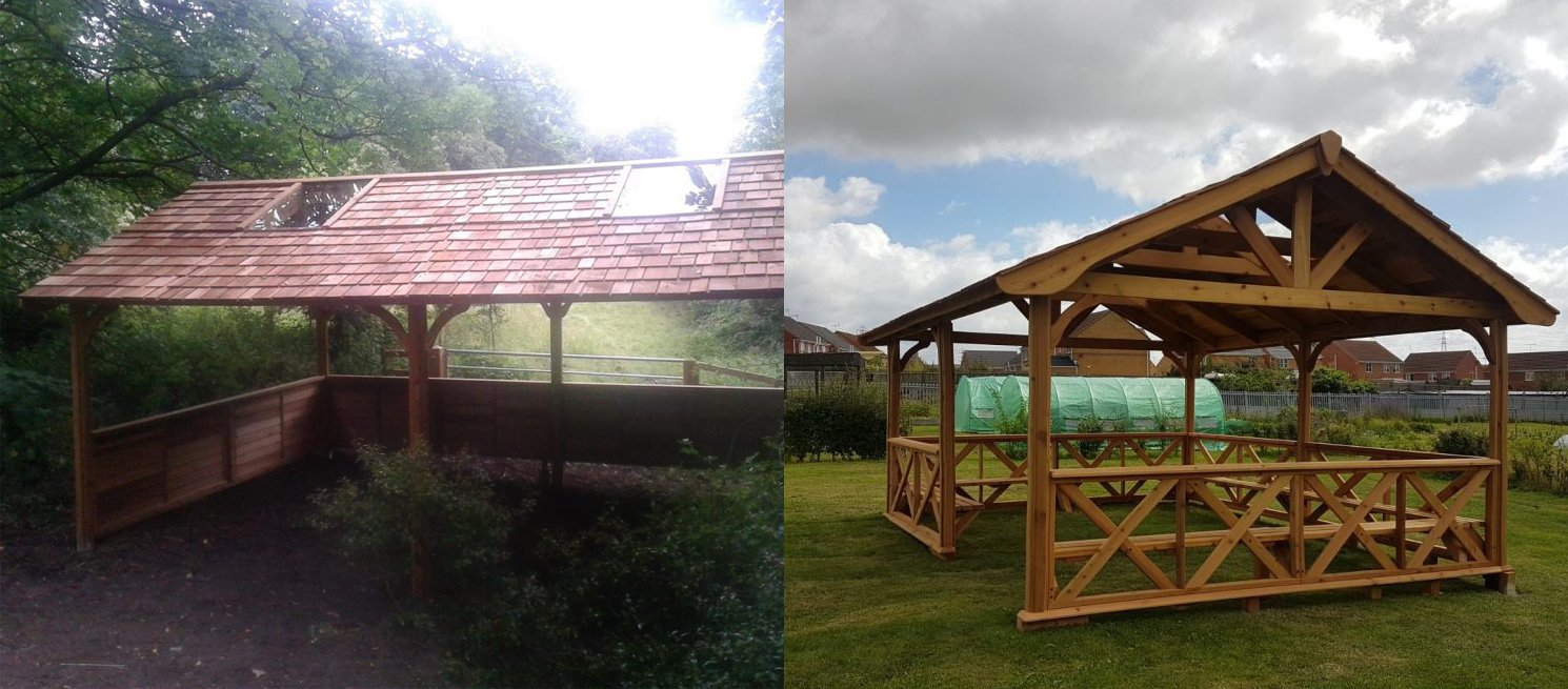 Forest shelter examples from Cedartree UK