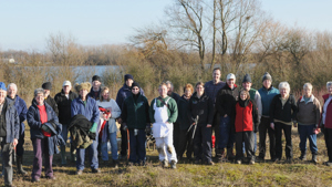 Volunteers at their annual scrub clearance