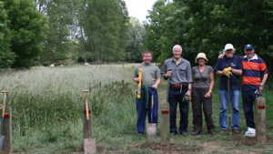 Volunteers at the Grange Estate