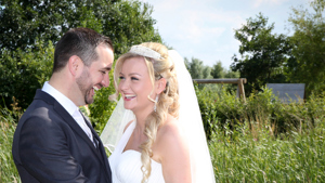 A newly wed couple in the Sensory garden